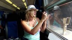 The Train in Monterosso al Mare in the Cinque Terre region of Liguria, Italy Stock Footage