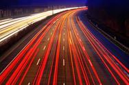 Traffic on highway Stock Photos