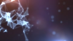Plexus abstract network titles cinematic background 08 Stock Footage