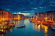 Venice at night Stock Photos