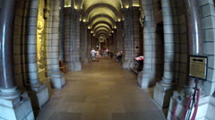 Inside the Saint Nicholas Cathedral in Monte Carlo, Monaco, Europe. Stock Footage