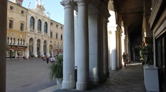 Lords Square and the famous Basilica of Palladio Stock Footage