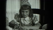 1951: girl is seen with her father MILWAUKEE, WISCONSIN Stock Footage
