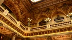 Inside the Casino Monte-Carlo in Monte Carlo, Monaco, Europe. Stock Footage
