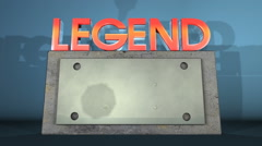 Legend motion graphic Stock Footage
