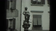 1951: statue is seen GERMANY Stock Footage