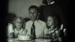 1951: birthday cake is seen GERMANY Stock Footage