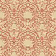 Vector seamless floral pattern vintage Stock Illustration