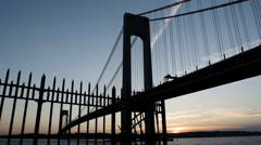 Staten Island Sunset - Verrazano Bridge - summer 2016 Stock Footage