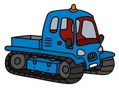 Blue small groomer Stock Illustration