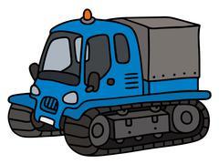 Funny blue groomer Stock Illustration