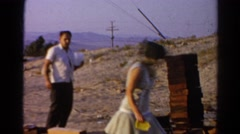 1966: experiences record in arid and dry territory Stock Footage