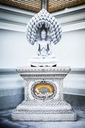 Buddha physical torture marble statue  in Pariwat temple Bangkok Thailand Stock Photos