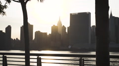 New York City skyline - Empire State Building - dolly shot Stock Footage