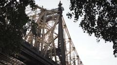 Queensboro Bridge - establishing shot - Queens, New York City Stock Footage