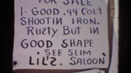 1966: ghost town bulletin board loaded with written notices CALIFORNIA Stock Footage