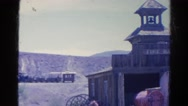 1966: old western style fire hall fireman engine public service CALIFORNIA Stock Footage