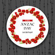 Anzac day dark background Stock Illustration