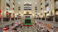"""The interior of the store """"Central children's store on Lubyanka"""" Stock Footage"""