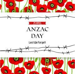 Commemorative Anzac background Stock Illustration