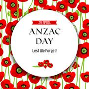 Commemorative Anzac day background Stock Illustration