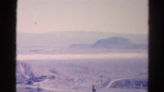 1966: outdoor desert dry landscape roadtrip area CALIFORNIA Stock Footage