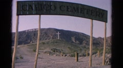 1966: looking through the gates of the calico cemetery. CALIFORNIA Stock Footage