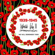 War commemorative card Stock Illustration