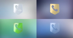 Call Phone Map Pin 3d Icon Stock Footage