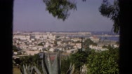 1966: view of city below from high mountain natural vista top CALIFORNIA Stock Footage