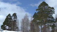 Winter landscape in Russia Stock Footage