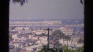 1966: beautiful view of an ocean inlet and harbor CALIFORNIA Stock Footage