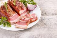 Raw bacon Stock Photos