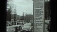 1951: city is seen with tall buildings along coastal area AUSTRIA Stock Footage