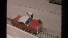 1966: car is seen CALIFORNIA Stock Footage