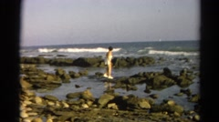 1966: coastal area is seen with tall trees CALIFORNIA Stock Footage