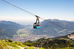 Cable car in the alps of Bavaria Stock Photos