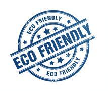 Eco friendly rubber stamp illustration Stock Illustration