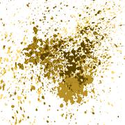Vector gold paint splash, splatter, and blob shiny on white background. Glowing Piirros