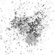Vector silver paint splash, splatter, and blob shiny on white background Piirros
