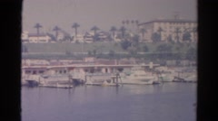 1966: lakeview hotels CALIFORNIA Stock Footage