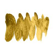 Vector gold paint spiral wave smear stroke stain on white background. Abstract Stock Illustration