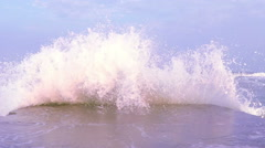 Storm on the Sea at Sunset Stock Footage