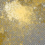 Illustration of confetti explosion effect isolated on transparent gray Piirros