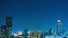 Viewof the riverside in Bangkok at night Stock Footage