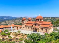 Christian orthodox monastery in Malevi, Peloponnese, Greece Stock Photos