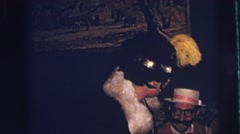 1973: drunk women dressed halloween as 1920s flapper floozy character LYNBROOK Stock Footage