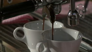 Coffee machine in a cafe. Stock Footage