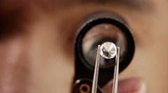 Diamond examination Diamond grading Stock Footage