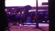 1974: students walking around bus with instruments LYNBROOK, NEW YORK Stock Footage